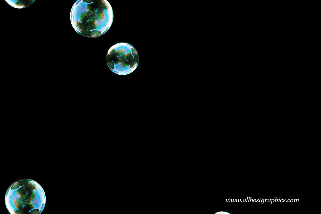 Unbelievable realistic soap bubbles on black background   Bubble Photoshop overlays