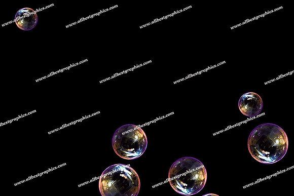 Spring Realistic Bubble Overlays | Stunning Photo Overlays on Black