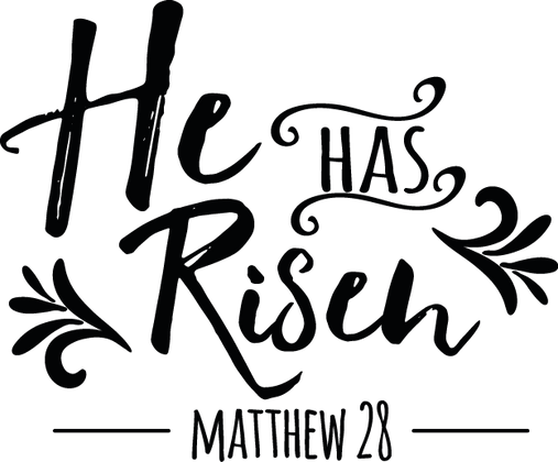 He Has Risen | Happy Easter and Bunny Quotes & Signs Cut files in Eps Svg Dxf