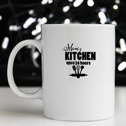 Mom's Kitchen Open 24 Hours | Brainy Kitchen SignCut files inEps Svg Dxf