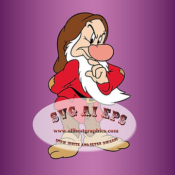 Grumpy Dwarfs Svg Dxf Eps Png | Snow White and the Seven Dwarfs