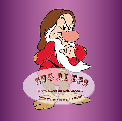Grumpy  Dwarf SVG | Snow White and the Seven Dwarfs - Disney Clipart