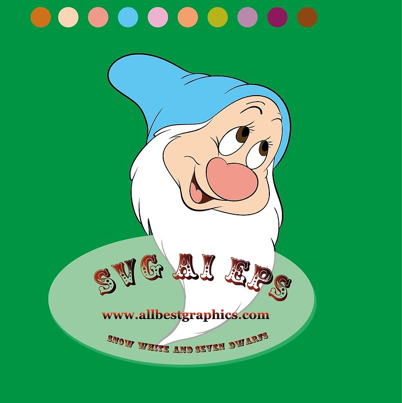 Disney clip art | Bashful Dwarf | Snow White | Seven Dwarfs Heads