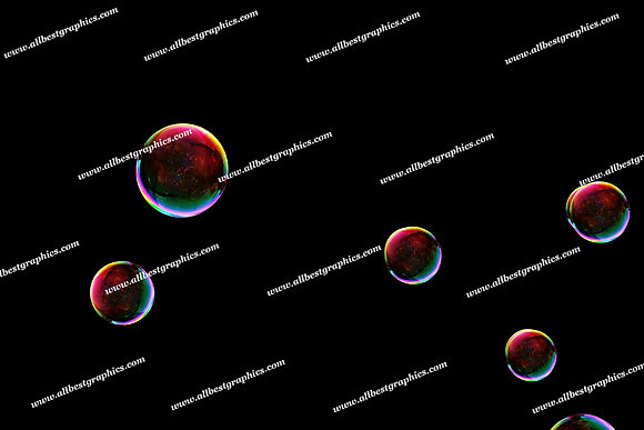 Beautiful Colorful Bubble Overlays | Incredible Photoshop Overlays on Black