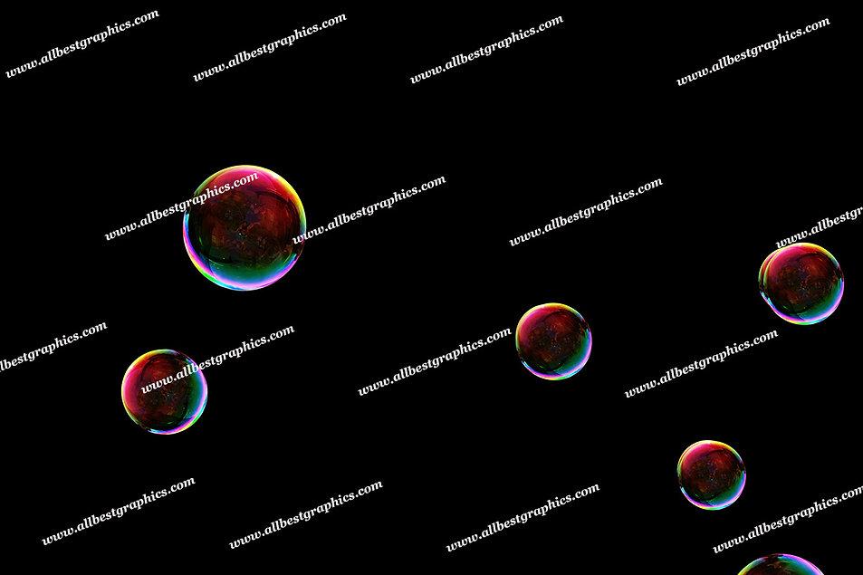 Beautiful Colorful Bubble Overlays   Incredible Photoshop Overlays on Black