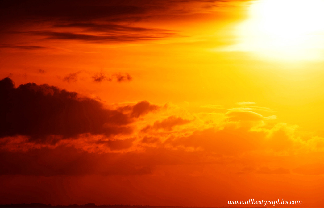 Romantic clear sunset background with clouds   Photoshop overlays
