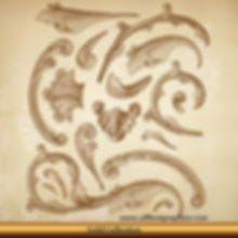 Acanthus leaves   Tattoo Victorian Decorative elements set_90326.003