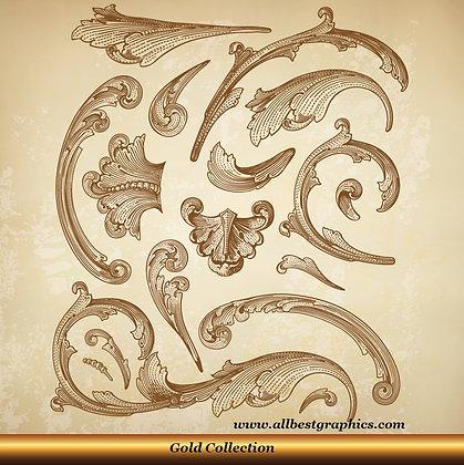 Acanthus leaves | Tattoo Victorian Decorative elements set_90326.003