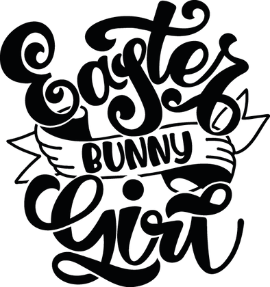Easter Bunny Girl   Happy Easter and Bunny Quotes & Signs for Silhouette Cameo