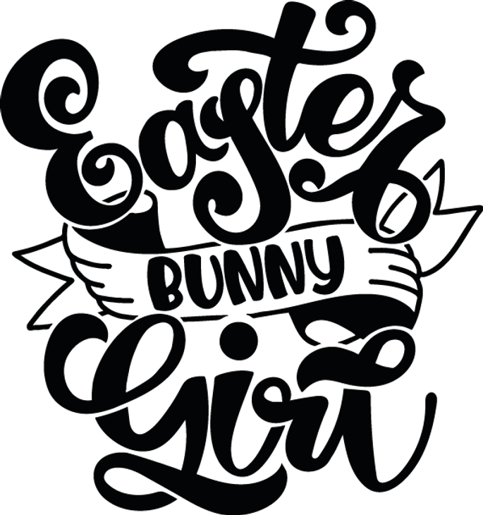 Easter Bunny Girl | Happy Easter and Bunny Quotes & Signs for Silhouette Cameo