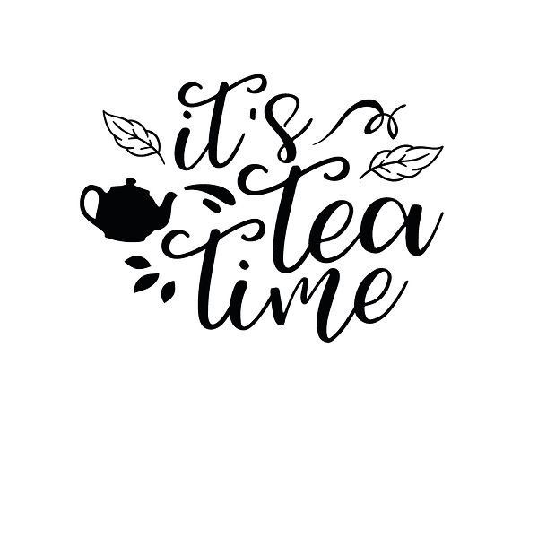 Its tea time Png | Free download Iron on Transfer Sassy Quotes T- Shirt Design in Png