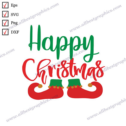 Happy Christmas | Cool Sayings Christmas Template Ready-to-Use Eps SVG Png Dxf