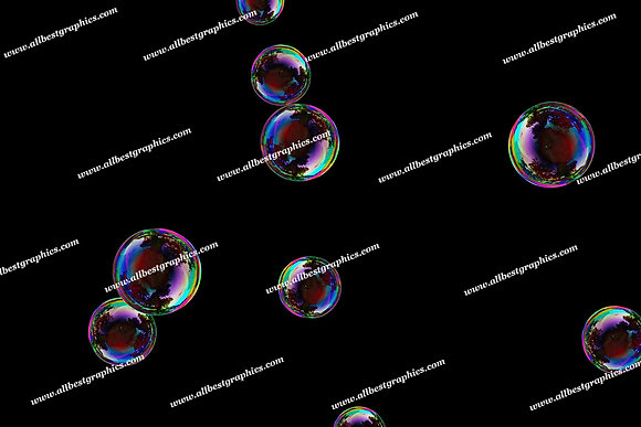 Awesome Soap Bubble Overlays | Stunning Photo Overlay on Black