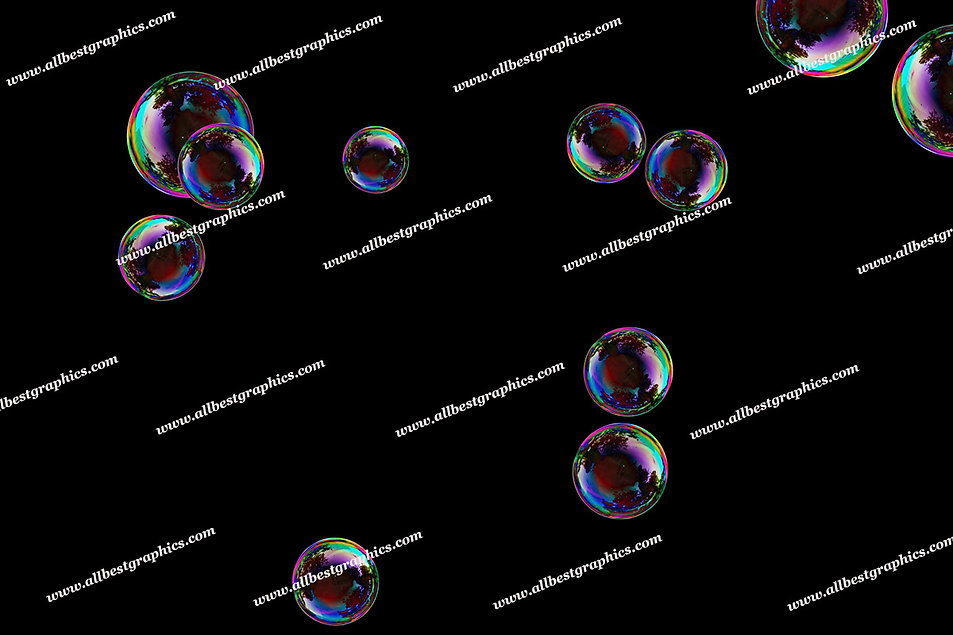 Natural Baby Bubble Overlays | Professional Photo Overlays on Black