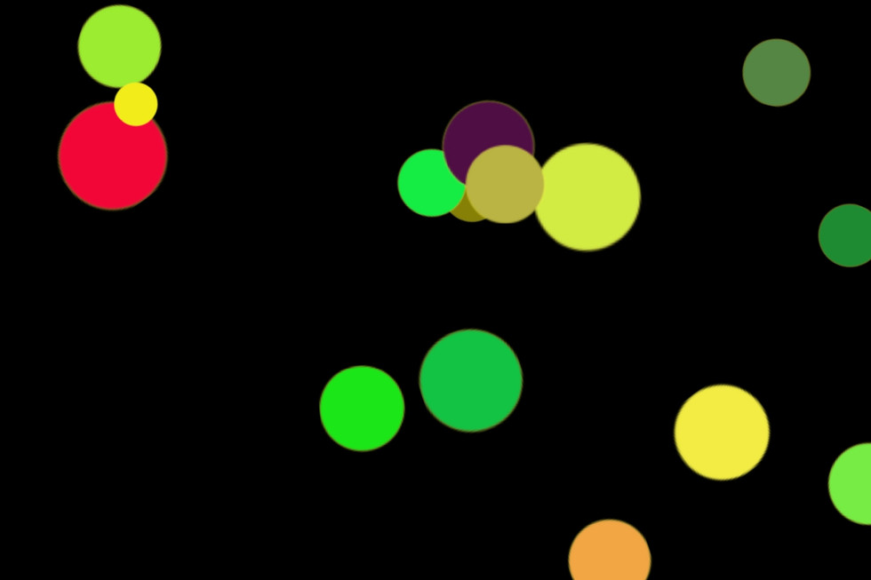 Beautiful Party Light Bokeh Clipart on black background | Free Overlays