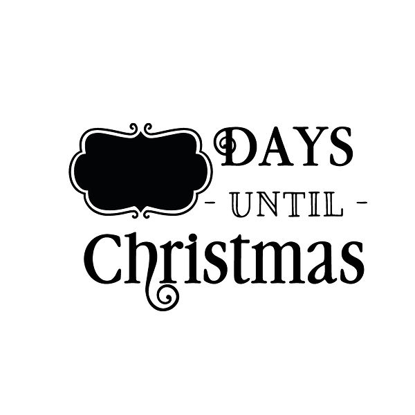 Days until christmas Png   Free download Iron on Transfer Sassy Quotes T- Shirt Design in Png