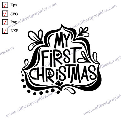 My First Merry Christmas | The Best Cool Sayings Easy-to-Use Christmas Décor