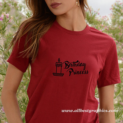 Birthday princess | Funny T-Shirt QuotesCut files inDxf Svg Eps