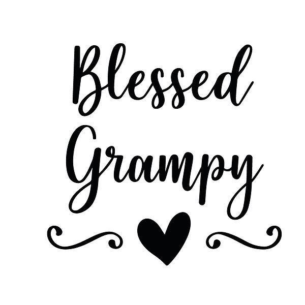 Blessed grampy | Free download Iron on Transfer Cool Quotes T- Shirt Design in Png