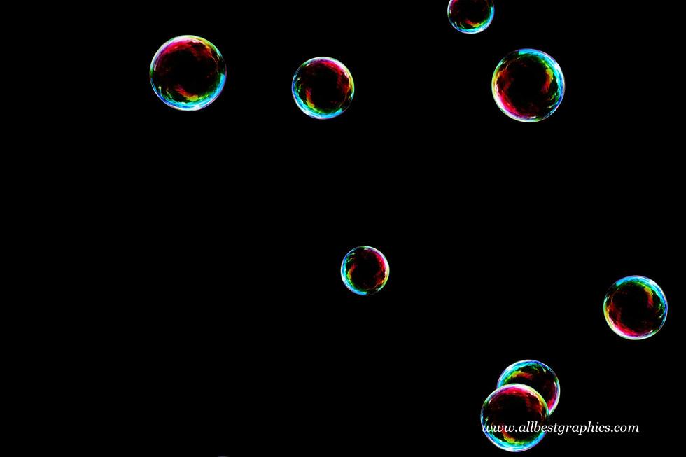 Beautiful bathroom soap bubbles on black background | Bubble Photoshop Overlay
