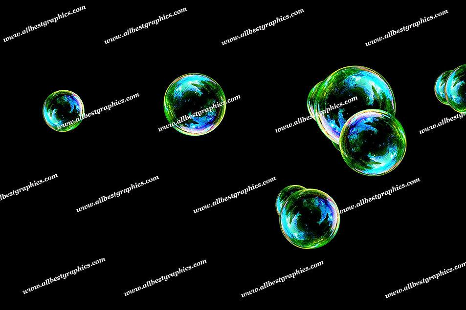 Beautiful Rainbow Bubble Overlays | Professional Photo Overlay on Black