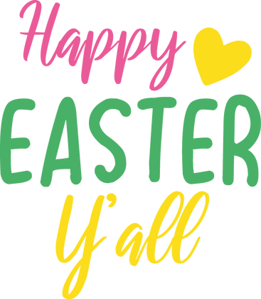 Happy Easter Y'all | Happy Easter and Bunny Quotes & Signs Cut files in Eps Dxf
