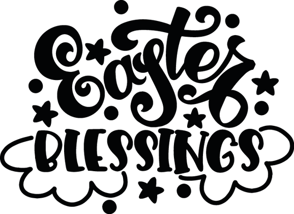 Easter Blessings |  Happy Easter and Bunny Quotes & Signs in Eps Svg Png Dxf