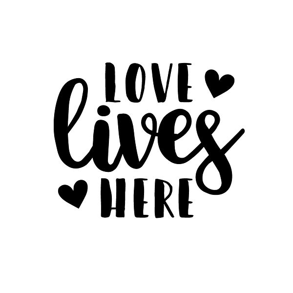 Love lives here Png   Free Printable Sassy Quotes T- Shirt Design in Png