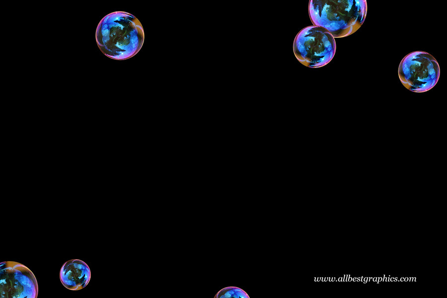 Beautiful air soap bubbles on black background | Bubble Photoshop Overlay