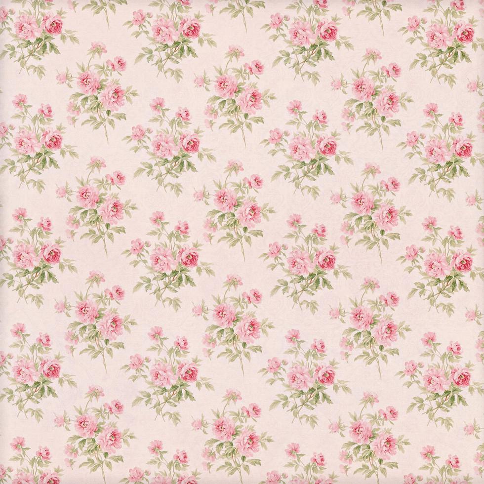 Summer floral digital paper with pastel flowers | Handmade Digital Paper