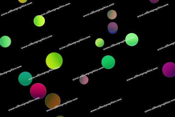 Beautiful Christmas Lights Bokeh Clipart | Incredible Photoshop Overlays