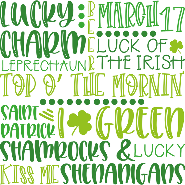 St Patricks Subway Art 2 | Free Printable Slay & Silly Quotes T- Shirt Design in Png