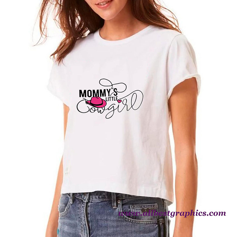 Mommy's Little Cowgirl | Cool Mom Quotes & Signs in Eps Svg Png Dxf