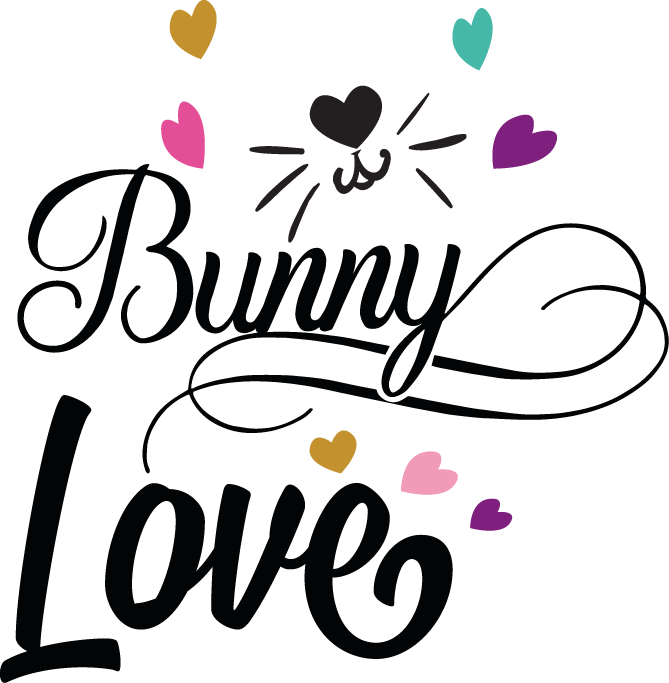 Bunny Love | Happy Easter and Bunny Quotes & Signs Cut files in Dxf Svg Eps