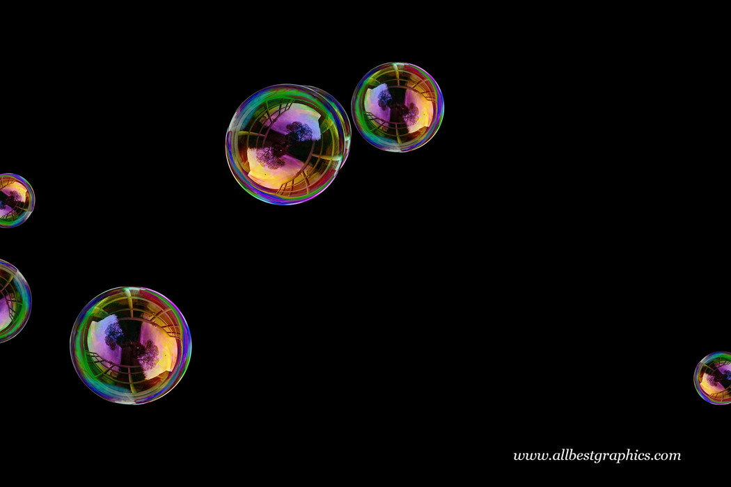 Romantic blowing soap bubble on black background | Photo Overlays