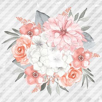 Luxury watercolor digital paper with roses   Handmade Digital Paper