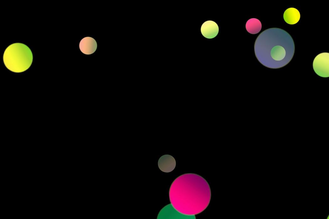 Realistic Party Light Bokeh Clip Art on black background | Freebies