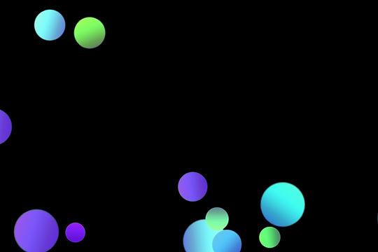 Gorgeous Night Light Bokeh Effect on black background | Photoshop Overlays