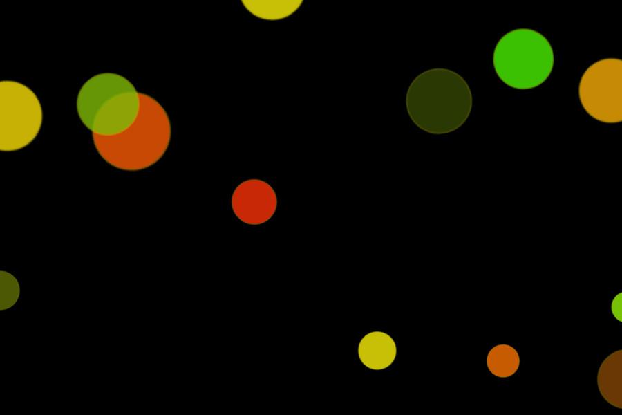 Colorful Festival Light Bokeh Clipart on black background | Photoshop Overlays