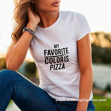 My favorite color is pizza | T-shirt Quotes for Silhouette Cameo and Cricut