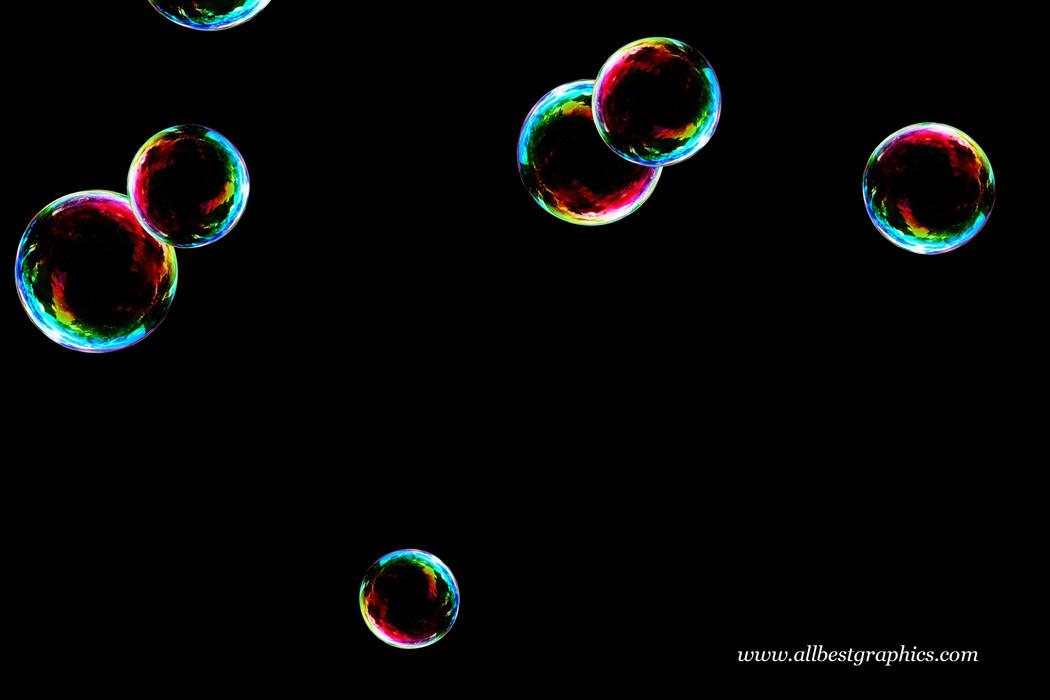Wonderful realistic soap bubble on black background | Overlay for Photoshop