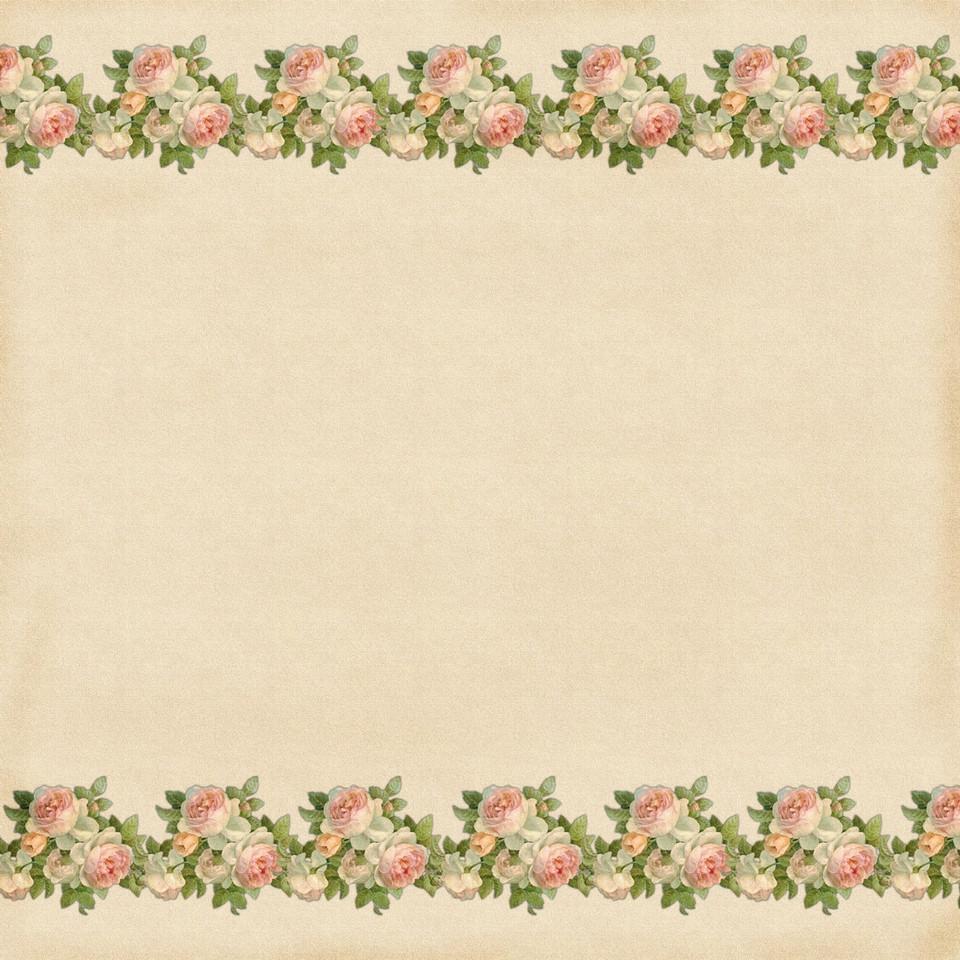 Spring roses digital paper with seamless design   Handmade Digital Papers