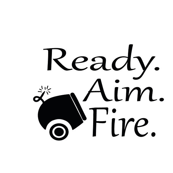 Ready aim fire Png | Free download Iron on Transfer Cool Quotes T- Shirt Design in Png