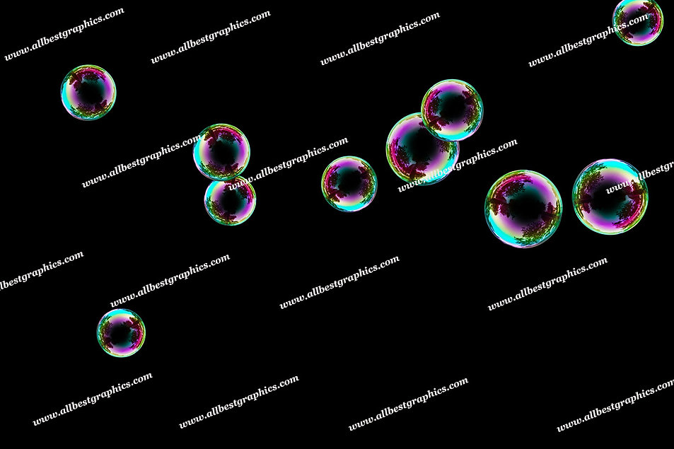 Awesome Rainbow Bubble Overlays | Incredible Photoshop Overlays on Black