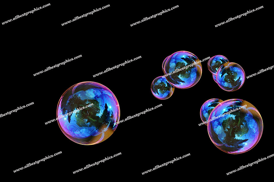 Gorgeous Colorful Bubble Overlays | Unbelievable Photo Overlay on Black