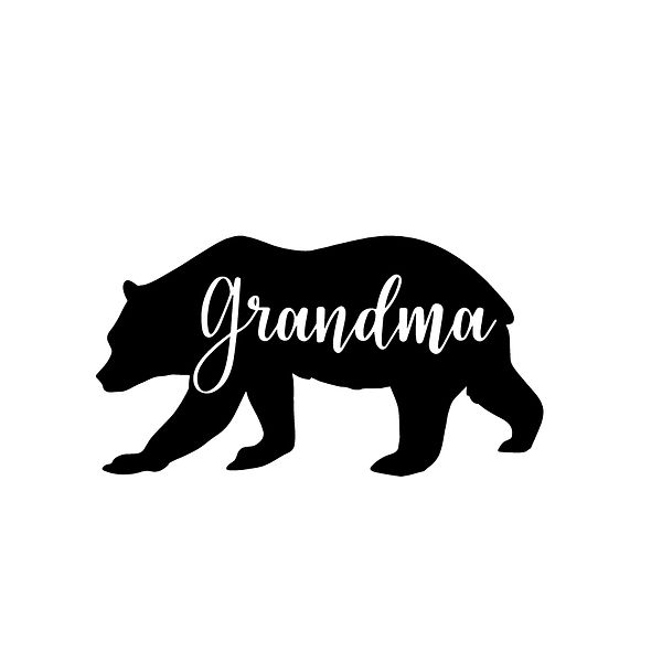 Grandma bear Png | Free Iron on Transfer Cool Quotes T- Shirt Design in Png