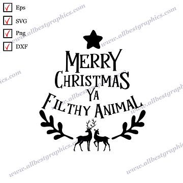 Merry Christmas Ya | Cool Quotes Christmas DecorSVG Png Eps Dxf