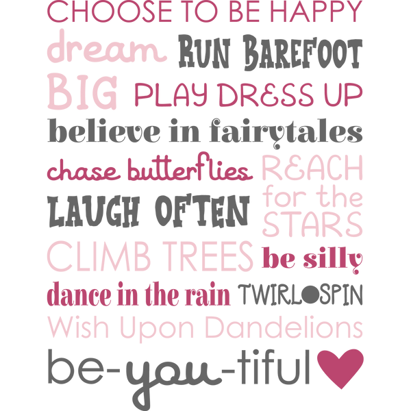 Girly Subway Art  | Free download Iron on Transfer Funny Quotes T- Shirt Design in Png