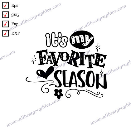 It's my Favorite Season | Best Cool Sayings Christmas Template Vector Graphics