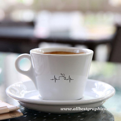Mug heartbeat | Slay and Silly Coffee Quotes for Silhouette Cameo and Cricut